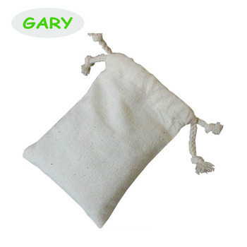 packaging bags cotton pull string pouch with printing