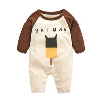 Custom print newborn baby boy climbing clothes wholesale organic cotton knit adult baby romper