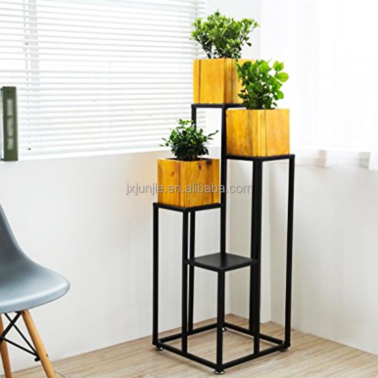Metal Corner Planter Stand Indoor Tall