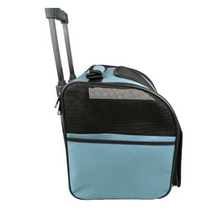 Blue Trolley Dog Carrier Stroller Collapsible Small Pet Bag Travel Pet Bag