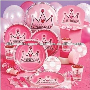 First Birthday Princess Party Supplies Decorations The Big One Including Tableware