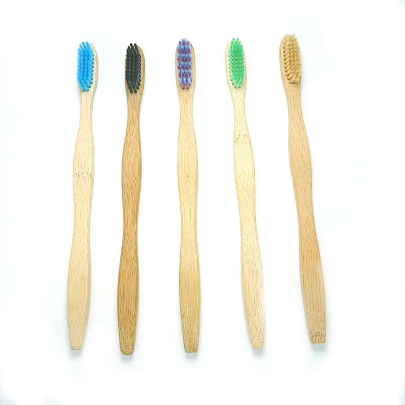 natural colour bristle toothbrush bamboo