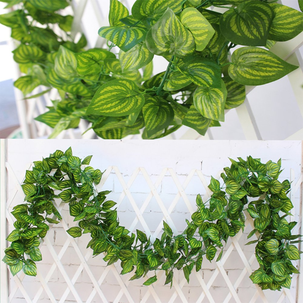 Cheap artificial flowers garland find artificial flowers garland get quotations 84ft 12 pcs artificial ivy leaf garland fake plants flowers ivy artificial hanging vines artificial izmirmasajfo