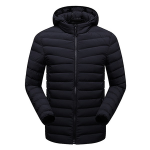 Black reversible down men jacket light weight down jacket