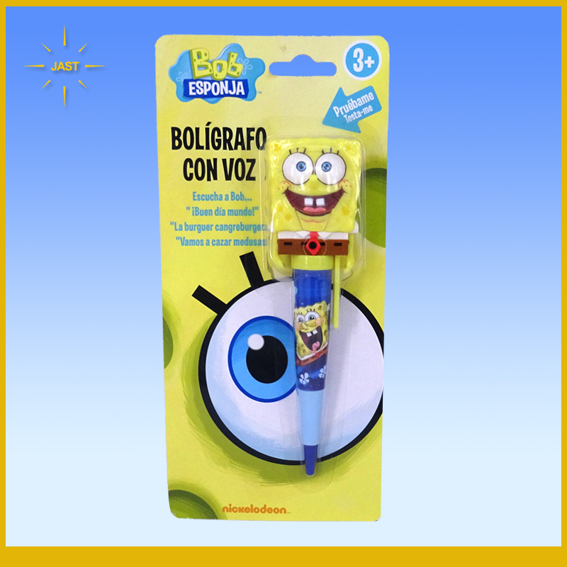 Cartoon Shape Talking Pen, Cute SpongeBobTalking Pen, SpongeBob Moving Head Talking Pen