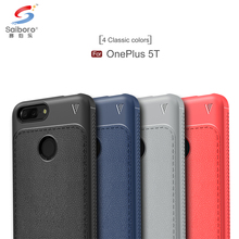 Mobile phone accessories leather grain soft tpu for oneplus 5T case anti shock,for one plus 5 T back covers