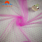 China supplier soft small dot nylon jacquard mesh fabric for dress