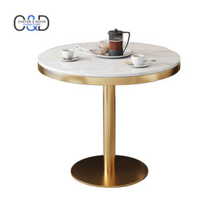Hot sale round restaurant dining cafe marble bistro table