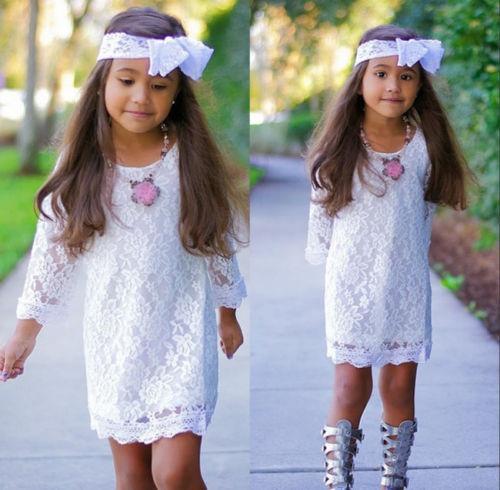 2016 New Kids Baby Girls Summer font b Dress b font Princess Flower Lace Tutu font
