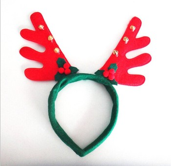 2016 Promotional Christmas hair accessories girl Christmas deer horn hair  band for Christmas 8a38af3929d