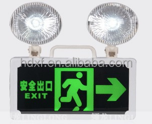 Emergency Light Twin Fire Exit Sign
