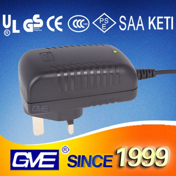 UK Wall Plug 24V 0.8A Mobile Phone Battery Charger With CE RoHS Certificate