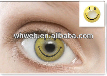 cheap colored honey smile face halloween contacts lens