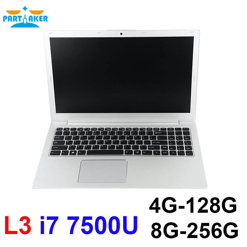 Partaker L3 i7 7500U Dual Core 15.6 inch Laptop Computer UltraSlim Laptop with Bluetooth WiFi Backlit Keyboard