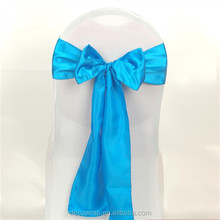 New Model! Tiffany Blue Satin Sashes For Wedding Party Fancy Wedding Chair Cover Sash