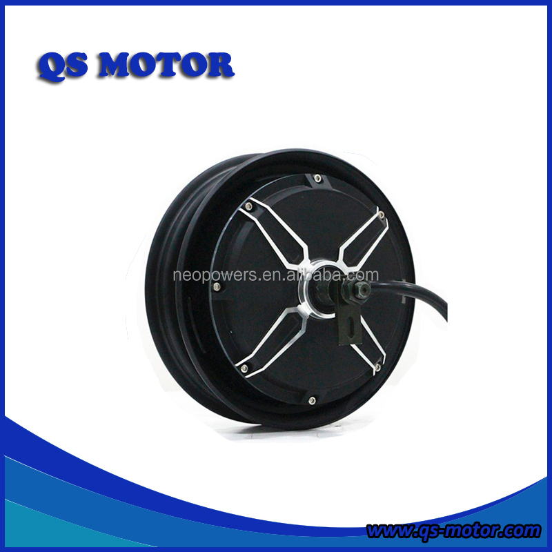 QS Motor 10 inch 3000w 72V(48-96V) Elecetric Scooter In-Wheel BLDC Hub Motor (50H) V3 Type, Black or silver