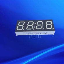 24 pins quad numbers serial red 4 digit 7 segment display led 0.39""