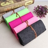 NEW 1PCS New Top-grade Exquisite Felt Cloth Sunglasses Boxes High Quality Luxury Fabric Glasses Case Gray/Rose/Orange/Pink/Green