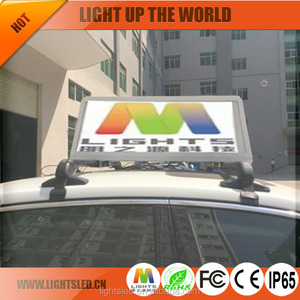 Ultra Thin P4 P5 Car Taxi Roof Advertising Message Signs Truck Mounted Can Bus LED Display Board