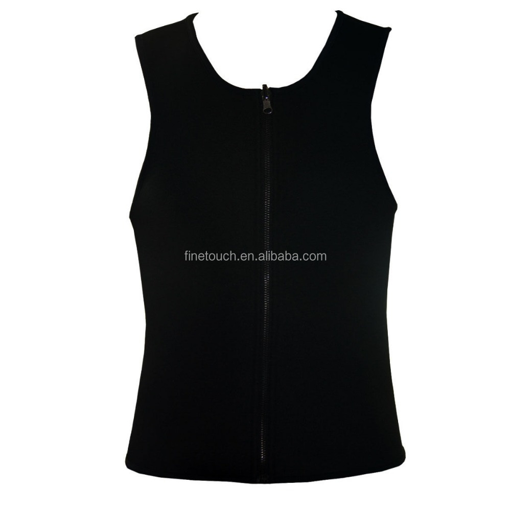 Men Ultra Sweat Gym Athletic Shirt Sports Running/ Neoprene Vest Corsets