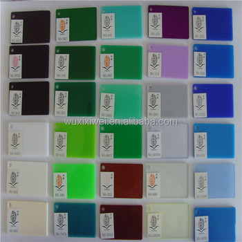 Acrylic Sheet - Infrared Transmitting Plexiglass Color Chart - Buy ...
