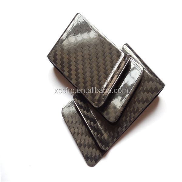 Gift use carbon fiber cash money clip wallet money clips