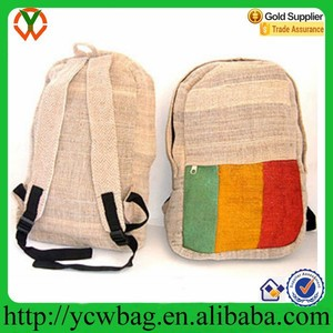 Natural cotton jute tote bag hemp backpack