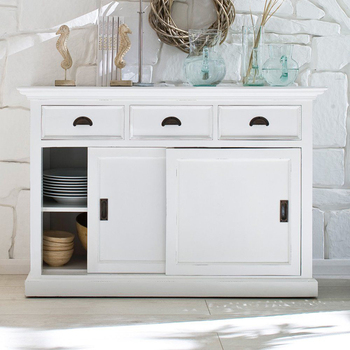 Modern White Kitchen Cabinet Designs 3 Drawers Buffet Sideboard Table With  3 Drawers And 2 Sliding Doors - Buy Sideboard Modern,Kitchen Cabinet ...
