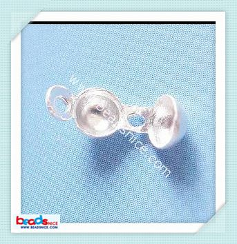 Beadsnice ID 8167 925 Sterling silver cap/tip beads 4mm inside diameter:3mm jewelry finding wholesale