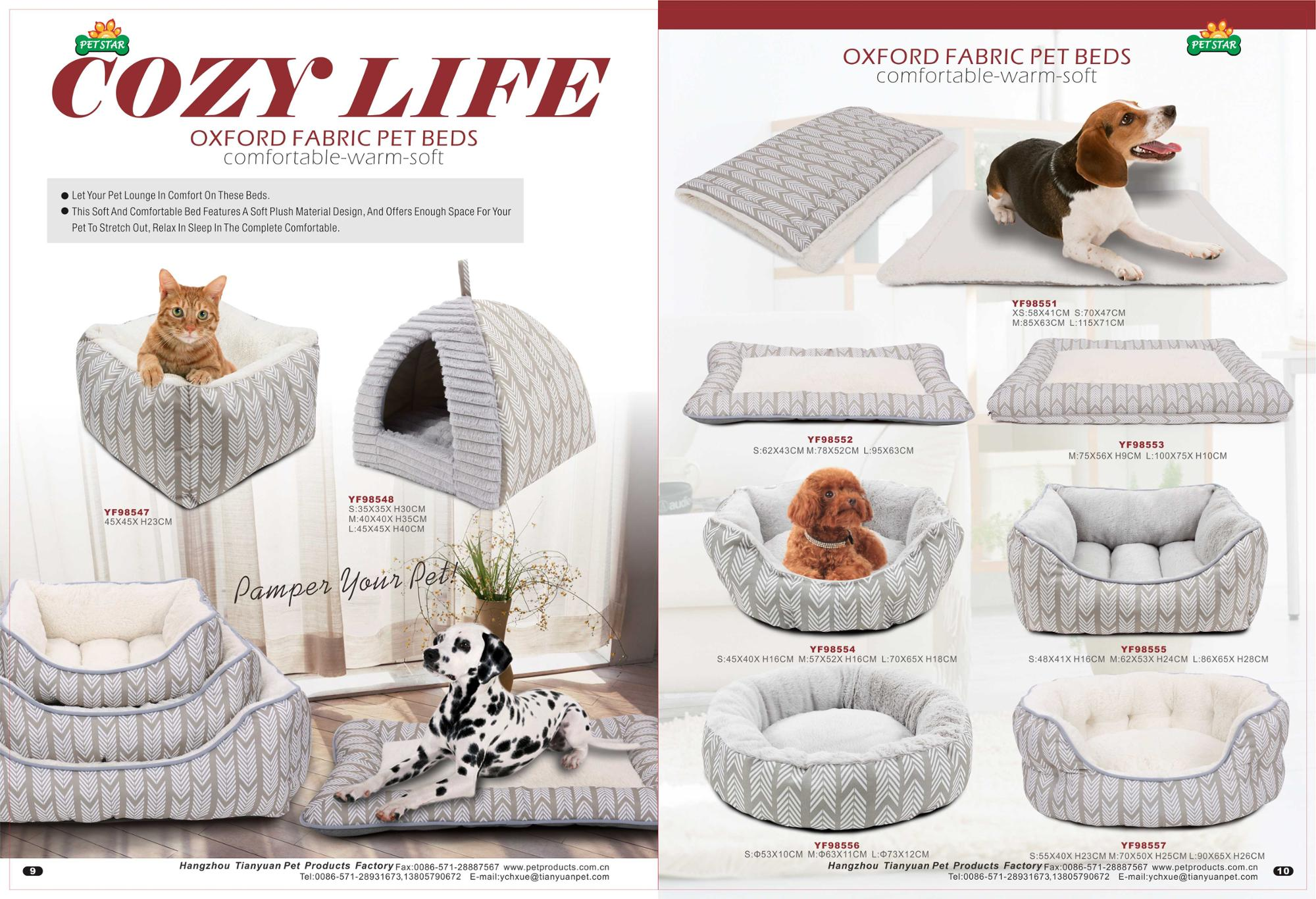 Petstar China Factory Cat Bed Two Ways Use Pet Bed Cotton Cave Felt Cat Bed