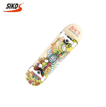 SIKD skate board 7ply canadian maple skate board pool skate board