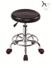 High Quality PU Leather Swivel Rubber Ring Bar Stool TF022 With Wheels