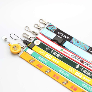 Wholesale nylon silk screen exhibition lanyards with logo custom