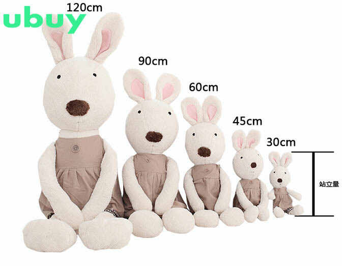 50% off rabbit plush toys for girls 30/45/60 cm doll stuffed rabbit toys for birthday gifts fashion doll 2015 soft rabbit toys