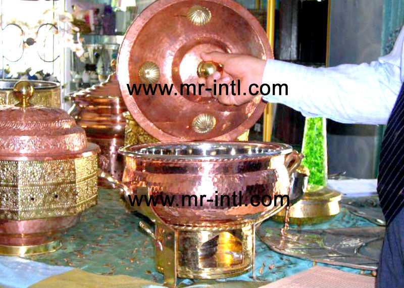 HAMMERED MAURYA COPPER CHAFING DISH