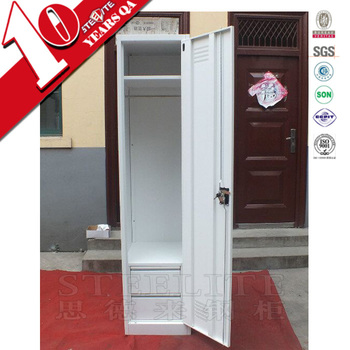 Vertical narrow single door iron cloth cabinet for small room/self assembly white thin one & Vertical Narrow Single Door Iron Cloth Cabinet For Small Room/self ...