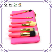 6pcs synthetic hair professional foundation powder cosmetic brush with bag