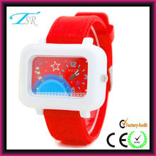 new products 2013 fashion gift children kid watch 2012 with silicone band and big face for teens Top selling