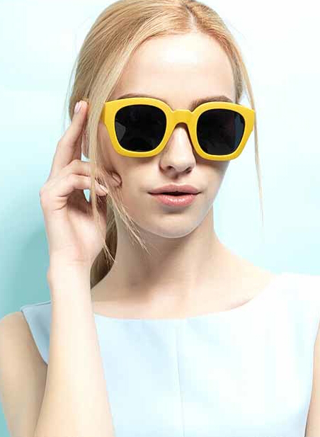 2015 NEW women thick PC sunglasses square shape plastic frame eyewear women fashion sunglass Gafas oculos de sol
