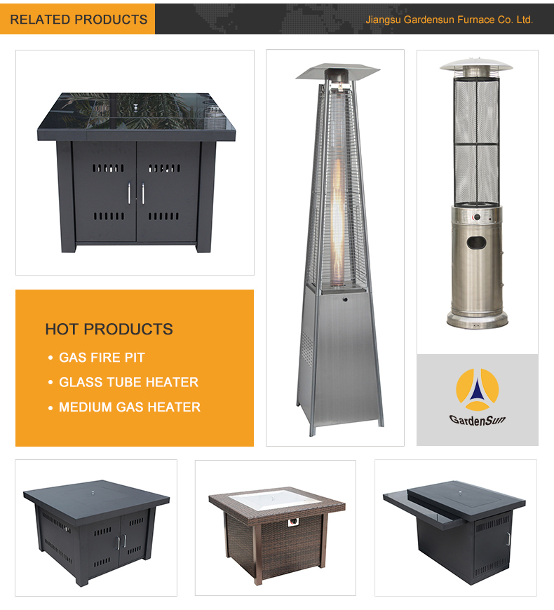 Umbrella Halogen Patio Heater With Certification Ce Aga