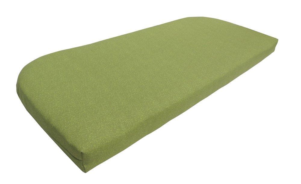 Bossima Indoor/Outdoor Green/Grey Piebald Bench & Loveseat Cushion,Spring/Summer Seasonal Replacement Cushions.