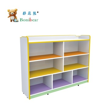 Nursery School Storage Furniture Kids Cabinet Children Wood Toy Kindergarten