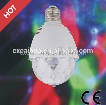 China manufacturer dircet price 3W E27 RGB DIsco Led Strobe Light Bulb