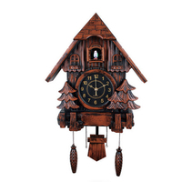 Plastic cuckoo clock with bird sound music