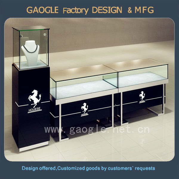 bulk wholesale furniture jewellery showcase design stainless steel jewelry showcase