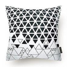 45x45 квадратная наволочка в скандинавском стиле, Геометрическая наволочка для подушки, серая, белая наволочка с принтом, домашний декор, наво...(Китай)