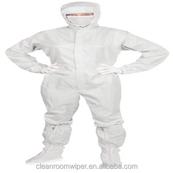 Antistatic cleanroom coverall