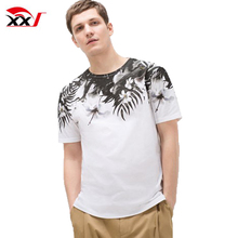 clothing manufacturers overseas mens floral printing t-shirt private label with wholesale price