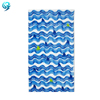 photo printed beach towel 100% cotton sport team design beach towel blue color beach towel