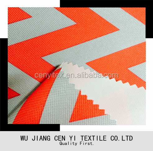 High quality Polyester pvc coated printed oxford <strong>fabric</strong> with soft handfeel